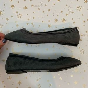 torrid Shoes - Torrid | Gray Mesh Suede Pointed Toe Flats Size 8
